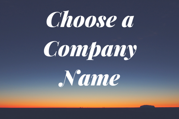 How to Choose a Company Name